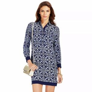 DVF Sorrel Knit Combo Shirt Dress P XS  H